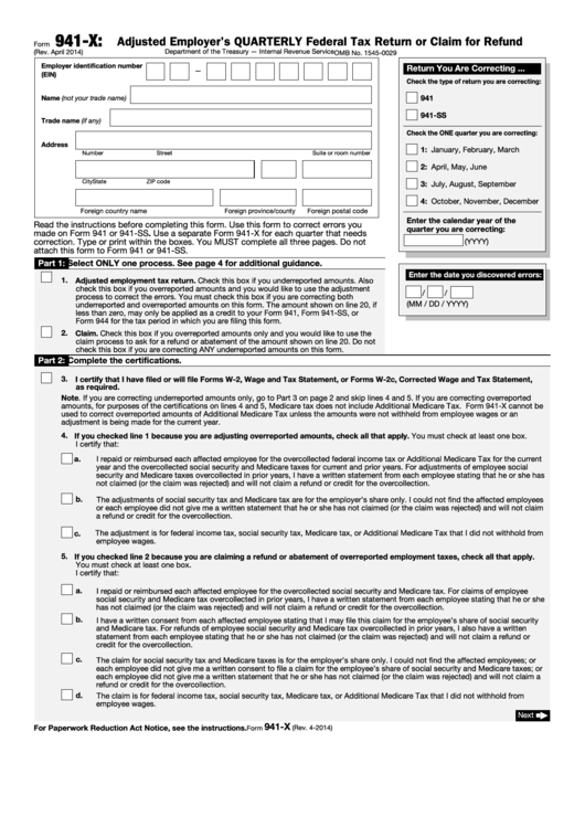 Top 11 Form 941 X Templates Free To Download In Pdf Format