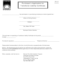 Form Dr-843 - Purchaser's Application For Transferee Liability Certificate