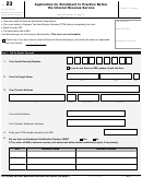 Form 23 - Application For Enrollment To Practice Before The Internal Revenue Service