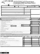 Form Ct-183-m - Transportation And Transmission Corporation Mta Surcharge Return - 2013