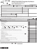 Form Ct-186 - Utility Corporation Franchise Tax Return - 2013
