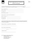 Form Dr-842 - Seller's Application For Transferee Liability Certificate