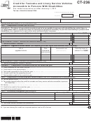 Form Ct-236 - Credit For Taxicabs And Livery Service Vehicles Accessible To Persons With Disabilities - 2013