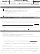 Form 5304-simple - Savings Incentive Match Plan For Employees Of Small Employers (simple) - Not For Use With A Designated Financial Institution