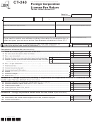 Form Ct-240 - Foreign Corporation License Fee Return - 2013