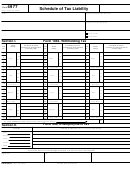 Form 4977 - Schedule Of Tax Liability