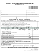 Form Ct-139w - Wisconsin Retail Cigarette Inventory Tax Return - 2009