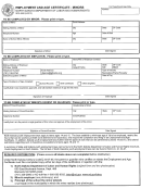 Form Sfn 4598 - Empolyment And Age Certificate - Minors