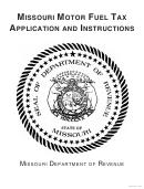Form 795 - Missouri Motor Fuel Tax License Application