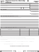 California Form 1115 - Request For Consent For A Water's-edge Re-election - 2013