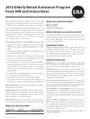 Form 90r - Oregon Elderly Rental Assistance - 2012
