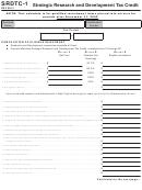 Form Srdtc-1 - West Virginia Strategic Research And Development Tax Credit