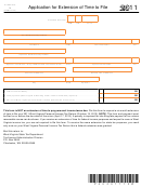Schedule L (form It-140) - West Virginia Application For Extension Of Time To File - 2011