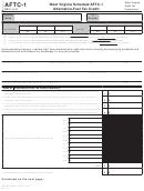 Schedule Aftc-1 - West Virginia Alternative-fuel Tax Credit