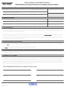 Arizona Form 821-psc - Withholding Tax Payroll Service Company Authorization