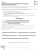 Form 0405-702 - Permittee/licensee Authorization Of Handling Electronic Bingo Devices