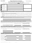 Form Wrc - Virginia Worker Retraining Tax Credit Application