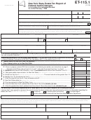 Form Et-115.1 - New York State Estate Tax Report Of Federal Audit Changes