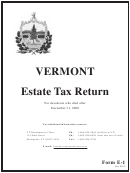 Form E-1 - Vermont Estate Tax Return