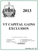 Schedule In-153 - Capital Gains Exclusion - 2013