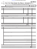 Form Et-90.3 - Schedules H-l - New York State Estate Tax Return