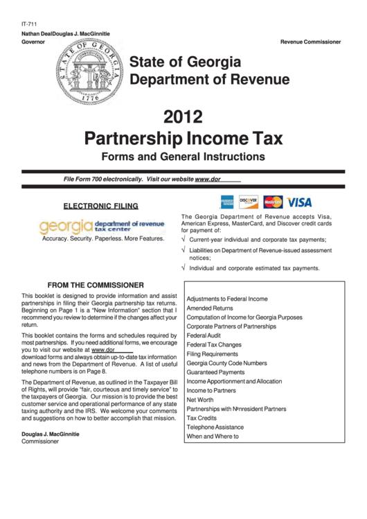 georgia income tax forms and instructions