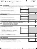 California Form 3801 - Passive Activity Loss Limitations - 2012