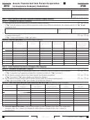 California Form 3725 - Assets Transferred From Parent Corporation To Insurance Company Subsidiary - 2012
