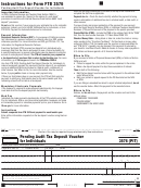 California Form 3576 (pit) - Pending Audit Tax Deposit Voucher For Individuals