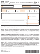 Form Spf-100t - Extension Of Time To File Information Returns - 2012