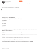 Form Ftb 3557 Llc - Application For Certificate Of Revivor