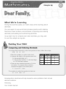 Letter To Family - Practice With Fractions, Mixed Numbers And Decimals