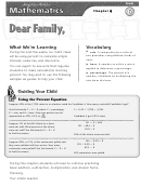Letter To Family - Calculating Simple Interest, Sales Tax And Discounts