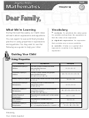 Letter To Family - Expressions And Equations