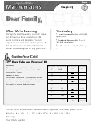 Letter To Family - Operations With Whole Numbers And Decimals