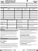 California Form 3540 - Credit Carryover And Recapture Summary - 2012