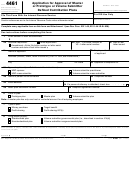 Form 4461 - Application For Approval Of Master Or Prototype Or Volume Submitter Defined Contribution Plans