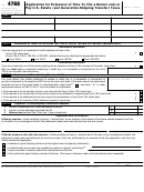 Form 4768 - Application For Extension Of Time To File A Return And/or Pay U.s. Estate (and Generation-skipping Transfer) Taxes O