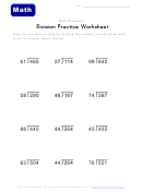 Division Practice Math Worksheets