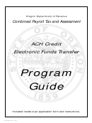 Form 150-206-030 - Ach Credit Electronic Funds Transfer Program Guide