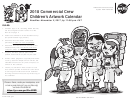 2018 Commercial Crew Children's Artwork Calendar - Kids Activity Sheets