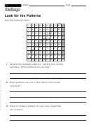 Look For The Patterns - Challenge Worksheet With Answer Key