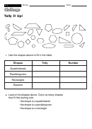 Tally It Up! - Challenge Worksheet With Answer Key