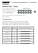 Doubles Plus 1 Totals - Challenge Worksheet With Answer Key