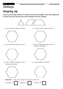 Shaping Up - Challenge Worksheet With Answer Key