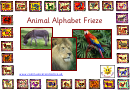 Animal Alphabet Frieze