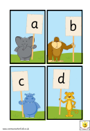 Alphabet Chart - Jungle Animals