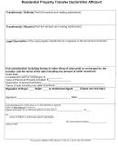 Residential Property Transfer Declaration Affidavit Form