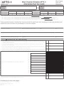 Schedule Aftc-1 - West Virginia Schedule Aftc-1 Alternative-fuel Tax Credit
