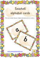 Seashell Alphabet Cards Template - Lower Case Letters